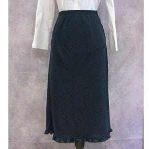 NY & Co. Navy Blue Ruffled Hem Skirt Size XL
